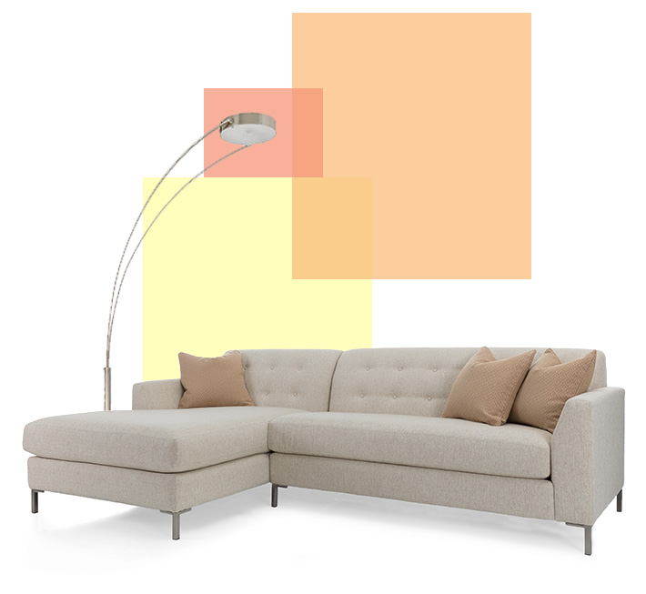 Malaket sofa and lamp